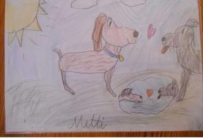 Metti rajza 8 évesen